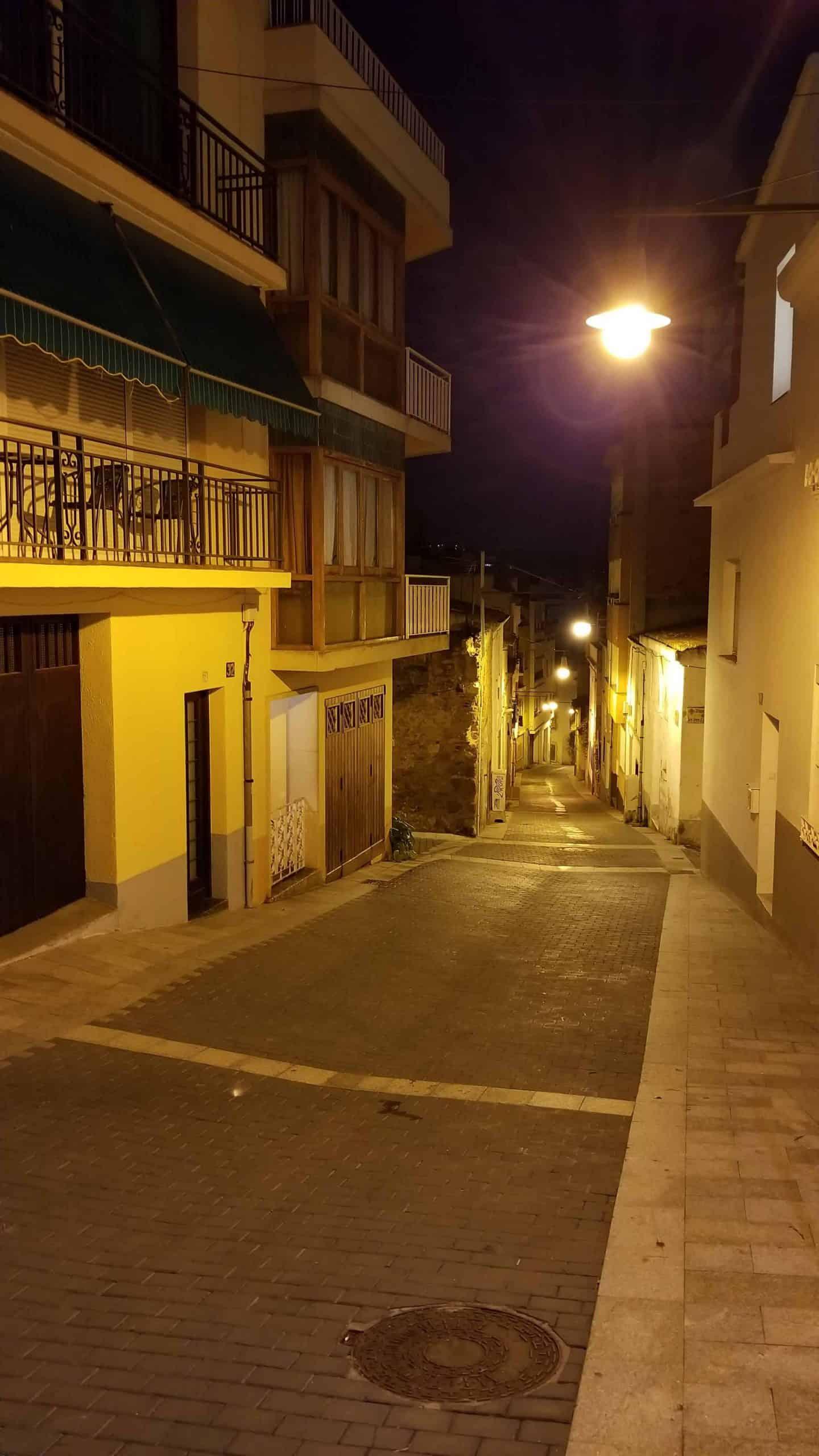 Side street in Lloret de Mar.